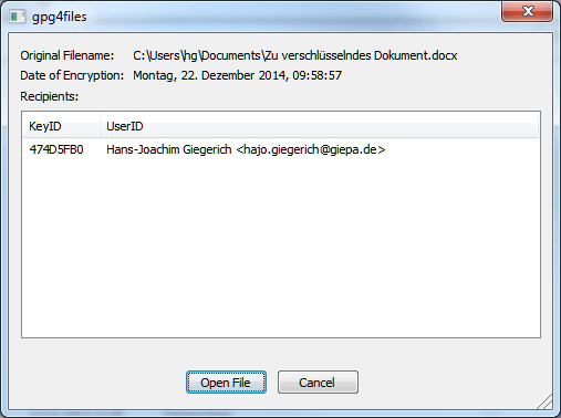 gpg4files - open dialog