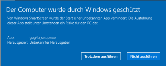 Windows Meldung