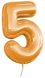 Ballon 5 Jahre orange_klein