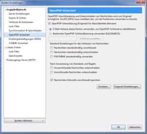 Bild 03: OpenPGP Funktionalität aktivieren