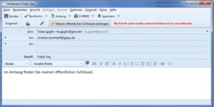 Bild 04: Öffentlichen Schlüssel per E-Mail versenden