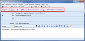 Bild 05: E-Mail Verschlüsselung durchführen