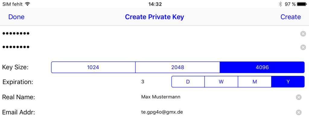 Bild 01: Schlüsselerzeugung