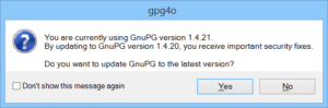 gpg4o update message GnuPG